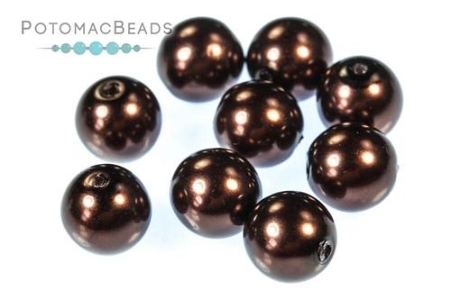 Czech Pearls Dark Sienna