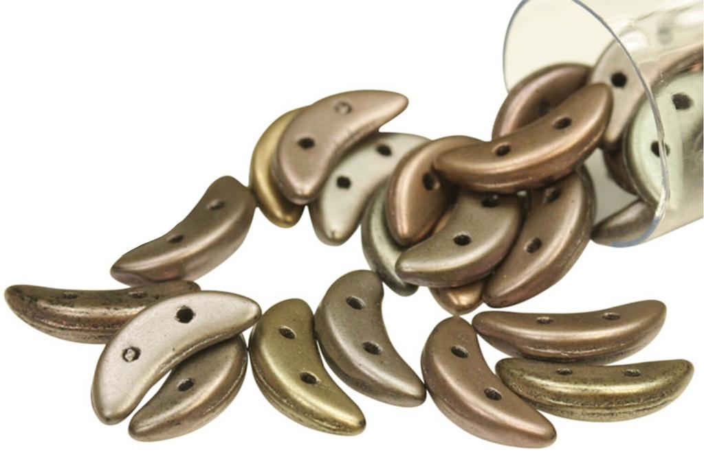 Crescent Matte Metallic Leather