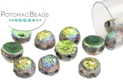 2-Hole Cabochon - Etched Crystal Vitrail Full