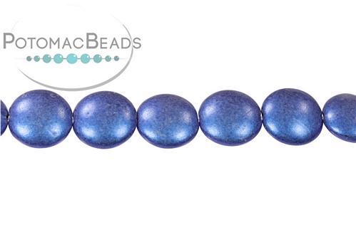 Cushion Bead Metallic Blue