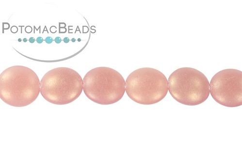 Cushion Bead Milky Pink Sueded Gold