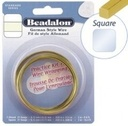 Beadalon Square Brass 20g