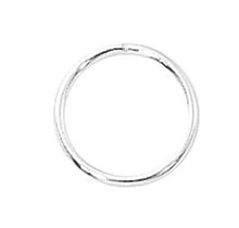 Sterling Silver Closed Ring 19G