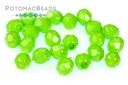 Czech Faceted Round Happy Lime 4mm