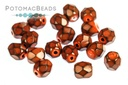 Czech Faceted Round Snake Hyacinth 4mm