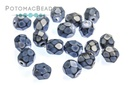 Czech Faceted Round Snake Ice Blue 4mm