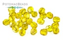 Czech Faceted Round Amber Celsian 4mm
