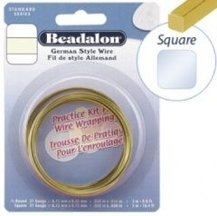 Beadalon Square Brass 21g