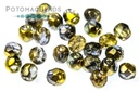 Czech Faceted Round Sunny Magic Night 3mm
