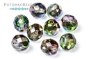 Czech Faceted Round Crystal Magic Orchid 8mm