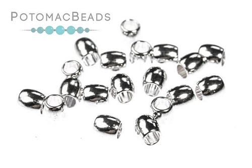 Silver Plated Crimp Bead 3mm