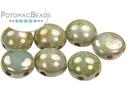 Candy Bead - White Luminous Green