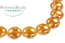 Candy Beads - Crystal Medium Apricot - Bag - Pack of 15