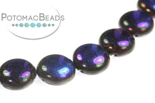 Candy Beads - Jet Azuro - 12mm - Bag - Pack of 15
