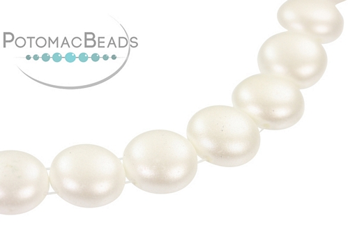 Candy Beads - Pastel White - Bag - Pack of 15