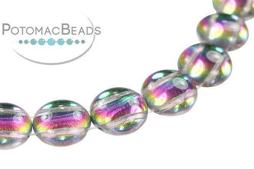 Candy Beads - Green Vitrail - Bag - Pack of 15