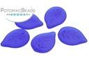 Czech Leaves - Dark Sapphire Matted 18x13mm