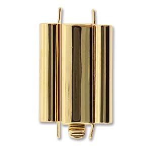 Beadslide Gold Plated 10x18mm
