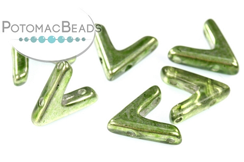 AVA Bead Olive Metallic Ice Factory Pack