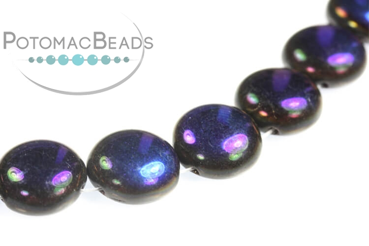Candy Beads - Jet Azuro 12mm