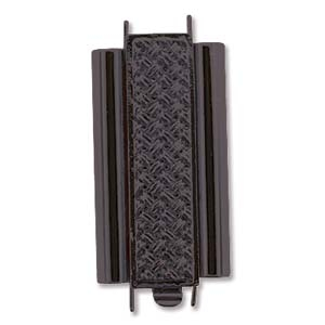 Beadslide Clasp Cross Hatch Black 10x24mm