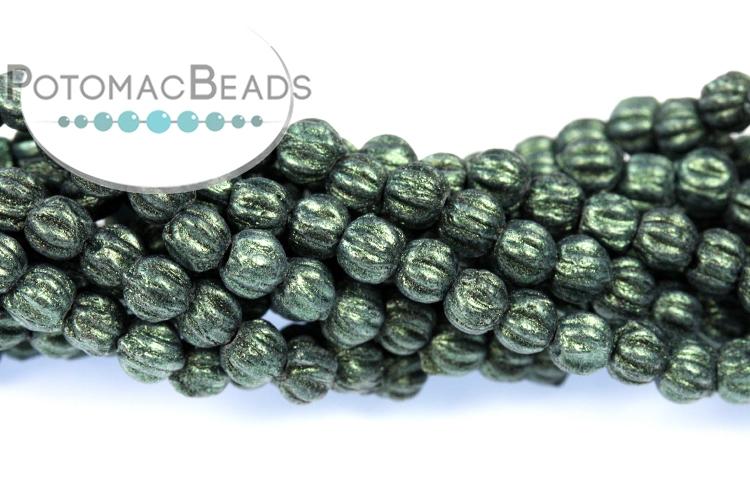 Melon Beads - Avocado Pacifica 3mm