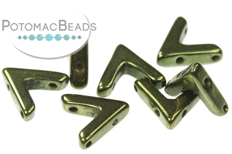 AVA Beads - Jet Red Luster (Metallic Green) (Factory Pack of 100)