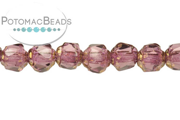 Czech Cathedral Beads - Amethyst Bronze 4mm