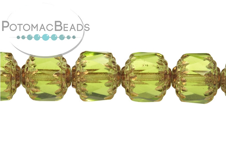Czech Cathedral Beads - Light Olive Bronze 8mm