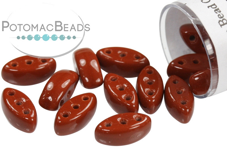 Cali Beads - Brown Opaque 3x8mm