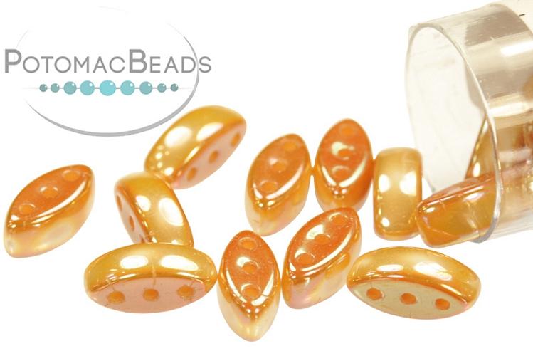 Cali Beads - White Medium Apricot 3x8mm