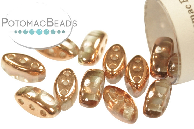 Cali Beads - Crystal Capri Gold 3x8mm