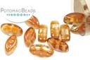 Cali Beads - Crystal Dark Apricot 3x8mm