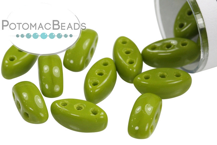 Cali Beads - Opaque Green 3x8mm (closeout)