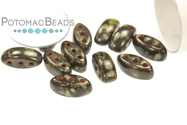 Cali Beads - Jet Picasso 3x8mm