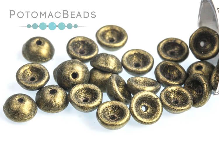 Teacup Beads - Metallic Suede Gold