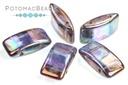 Carrier Beads 9x17mm - Crystal Iris