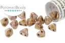 Super Kheops Beads - Opaque Rose ( Opaque Rose / Gold topaz Luster )