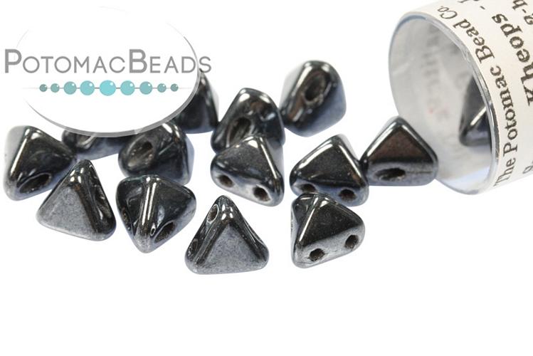 Super Kheops Beads - Jet Hematite