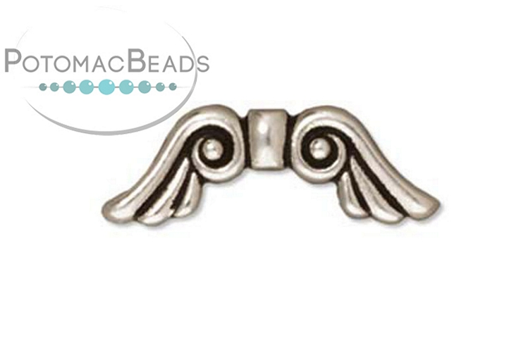 Angel Wings 20mm Silver Plated