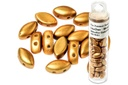 IrisDuo Beads - Metallic Gold 7x4mm
