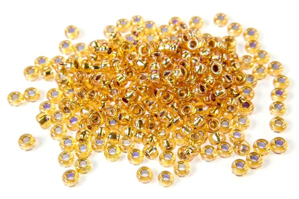 Miyuki Seed Beads - Silver Lined Gold AB 11/0