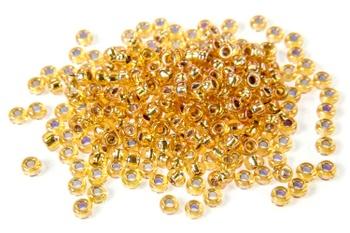 [70031] Miyuki Seed Beads - Silver Lined Gold AB 11/0
