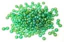 Miyuki Seed Beads - Matte Transparent Green AB 11/0