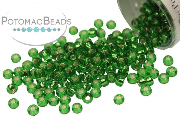 Miyuki Seed Beads - Silver Lined Green 11/0