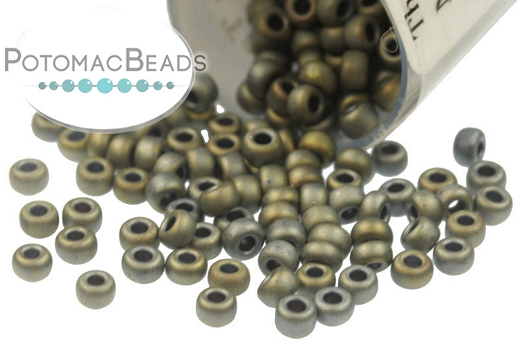 Miyuki Seed Beads - Matte Metallic Tawny Gray 11/0