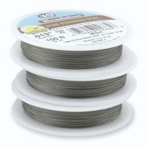 """Beadalon 49 Strand Wire Bright .013"""""""