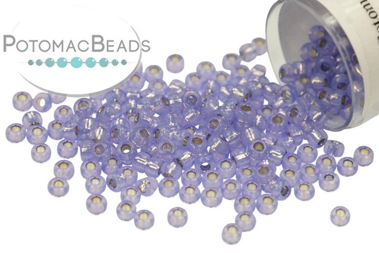 Miyuki Seed Beads - Dyed Violet Silver Lined Alabaster 11/0