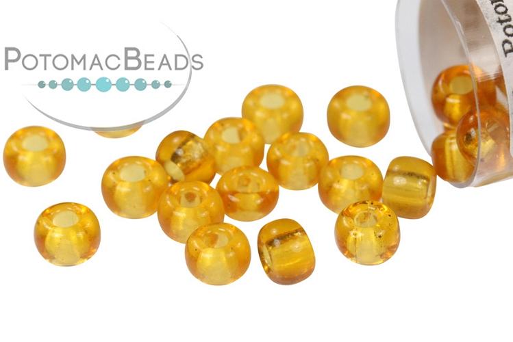 Miyuki Seed Beads - Transparent Topaz 6/0
