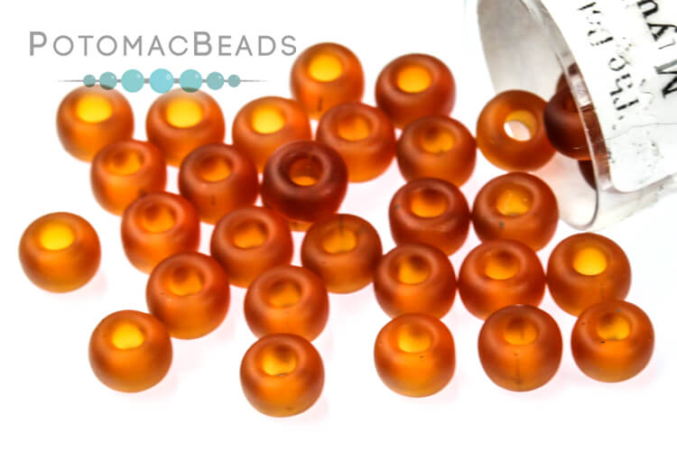 Miyuki Seed Beads - Matte Transparent Dark Topaz 6/0